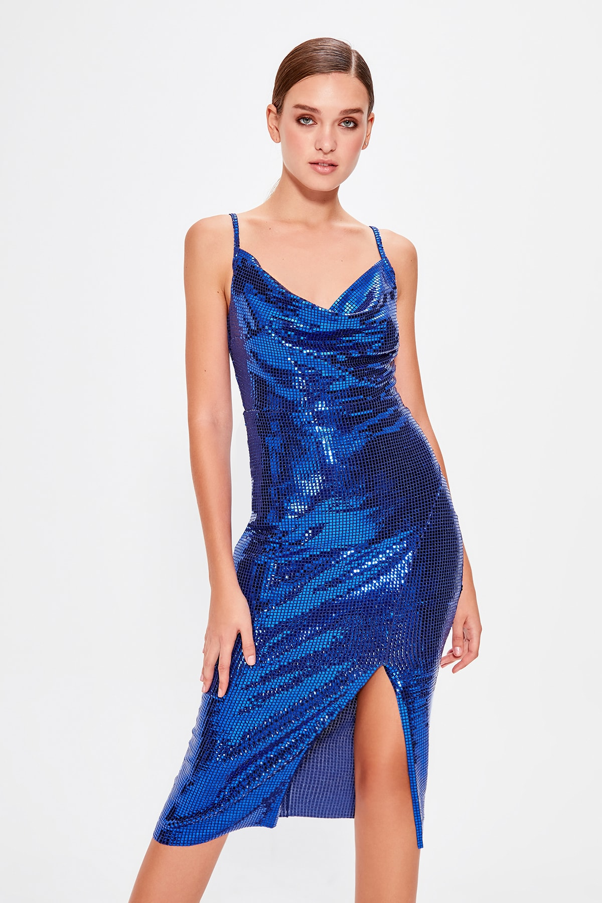 Trendyol Sequin Slip Dress TPRAW20EL0650