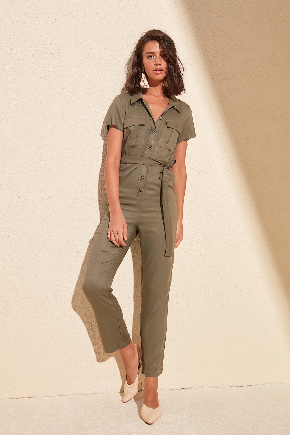 Trendyol Belted Jumpsuit TWOSS20TU0059