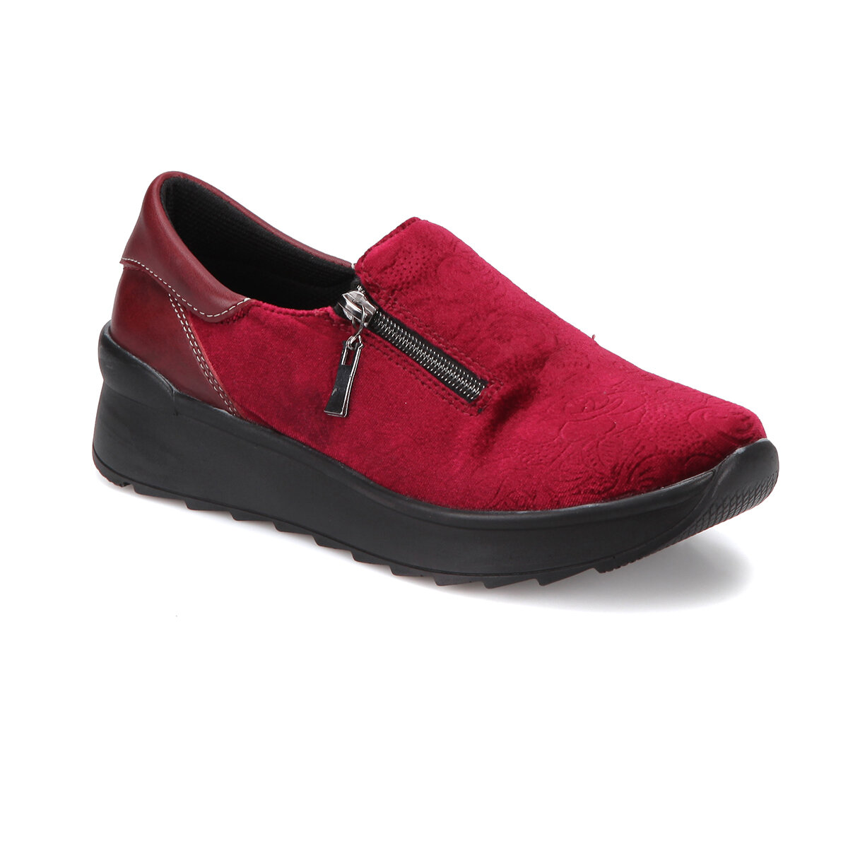 FLO Z204 Burgundy Women Slip On Shoes BUTIGO