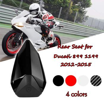 Motorcycle Rear Pillion Passenger Hard Solo Seat Cover Cowl Hump Faring for Ducati 899 1199 Panigale R S 2012 2013 2014 2015 ljbkoall white red black tail rear cowl cover fairing seat cover pillion for ducati 899 1199 panigale 2012 2013 2014 2015