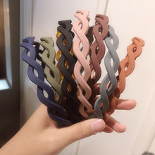 Headwear Hairband Twist-Headband Makeup Washing Women Knot Bezel Morandi Korea