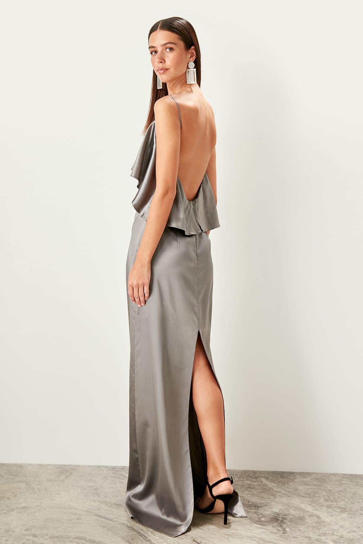 Trendyol Flywheel Detailed Evening Dress TPRSS19UT0089