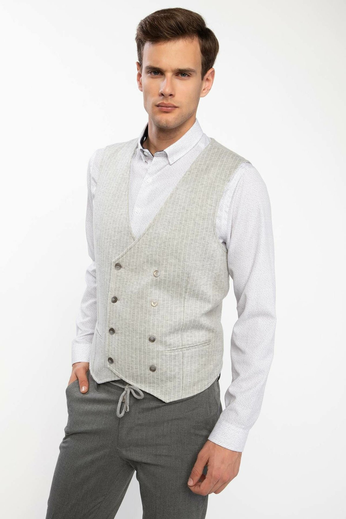 Defacto Vest Office-Style Fashion Cotton New Man Mens-J4366az18wn Joker High-Quality title=