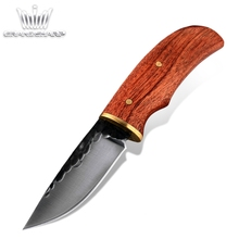 Hunting Knife Hand Forged Fixed Blade High Carbon Steel Rosewood Handle Survival Tactical Pocket Knives Home Camping  BBQ Tools