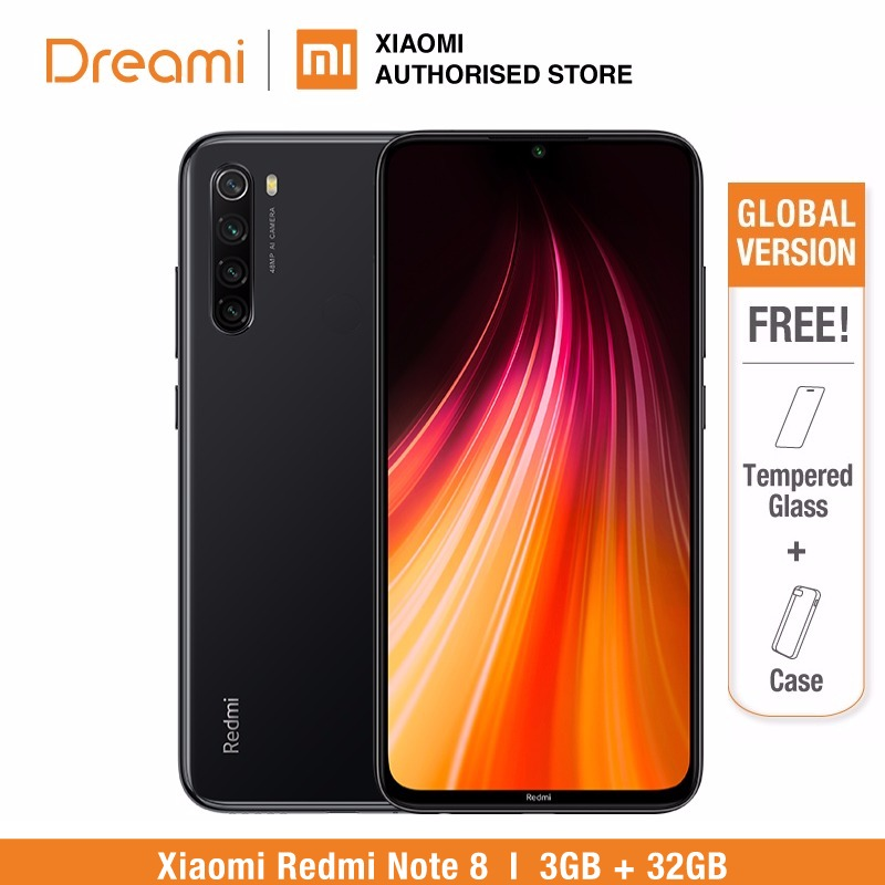 Global Version Redmi Note 8 32GB ROM 3GB RAM (LATEST ARRIVAL!), note832gb Smartphone Mobile