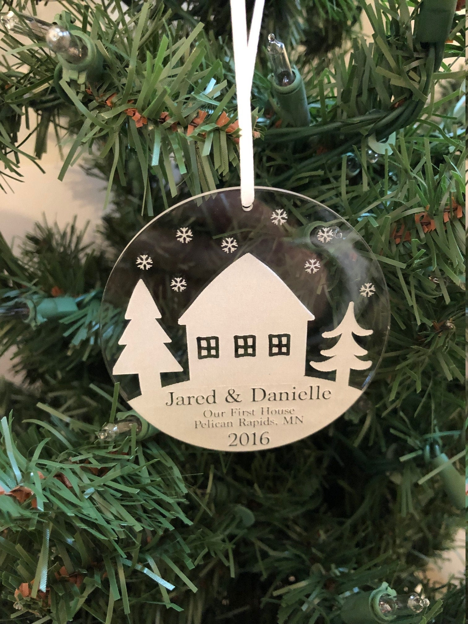 Our First Home Christmas Ornament.Us 14 99 Our First Home Bulb Style Christmas Ornament Personalized Christmas Ornament Gifts For Couple New House Memory On Aliexpress 11 11 Double
