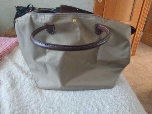 2021 Famous Brands Women Bags Shoulder Bag Handbag Waterproof Nylon Leather Beach bag Designer Folding Tote Bolsa Sac Feminina photo review