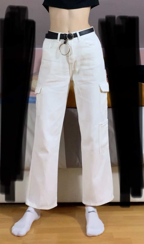 Fashion pocket hight waist Jeans photo review