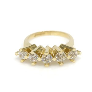 Diamante trabalho alto 8 k ouro dibs anel