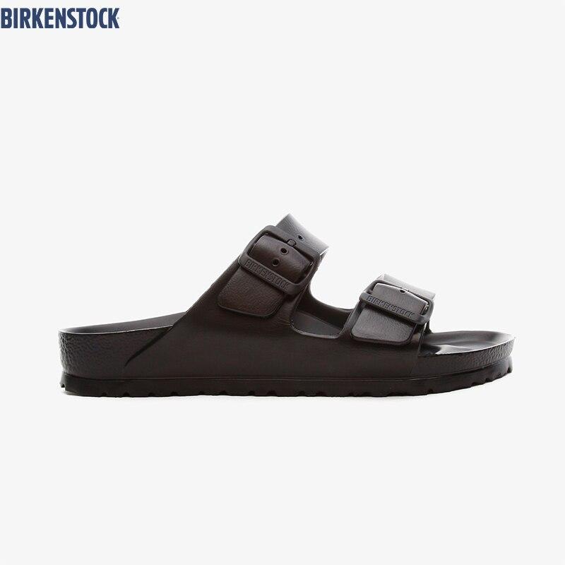 Birkenstock-Zapatillas De Eva Para Mujer, Zapatos Negros Originales, 129423
