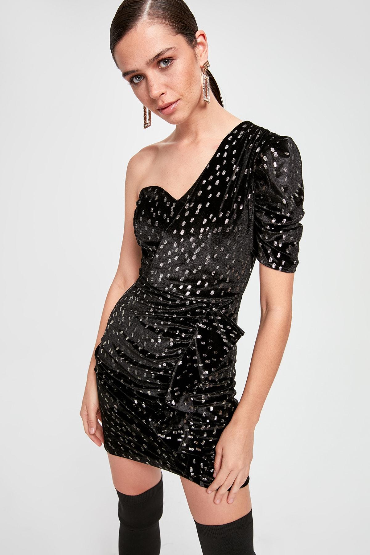 Trendyol One Shoulder Dress TPRAW20EL2213