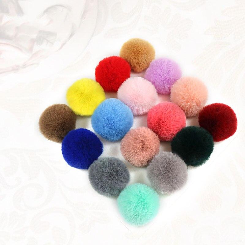 Ornament Fake Fur Ball Clothes Beanie Hats Craft Decoration Accessories Decor PomPom 2PCS Practical High quality New Hot Fur