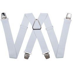 Подтяжки для брюк с усиленными клипсами (3.5 см, 4 клипсы, Белый) 54769
