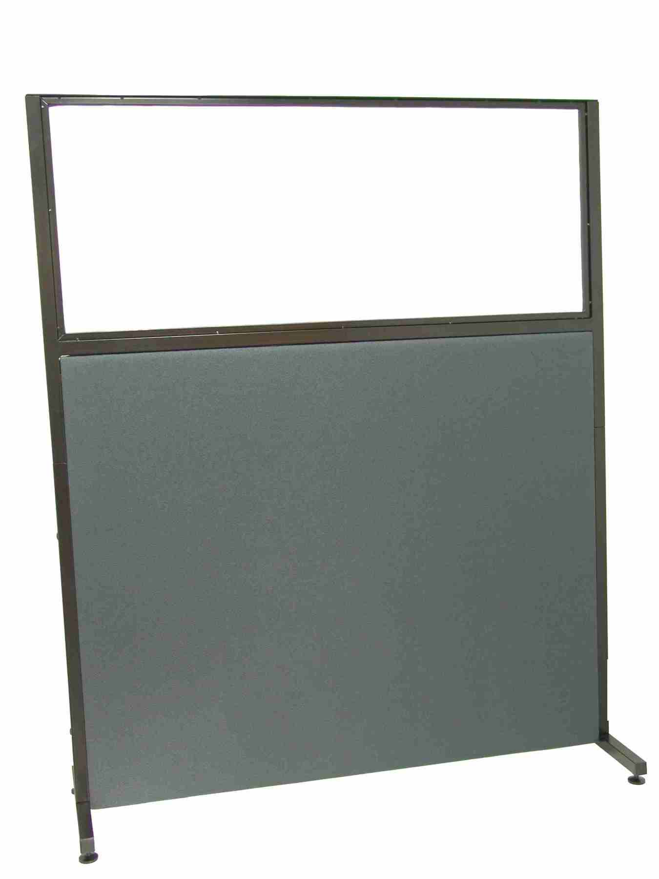 Room Divider Screen For Offices And Work Centres, Detachable And With Color Structure Black-Upholstered In Fabric BA