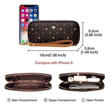 FOXER – sac à cosmétiques en cuir PVC pour femmes, pochette Chic, porte-monnaie avec sangle, porte-monnaie classique pour téléph 1