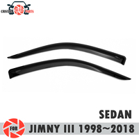 Fenster deflektor für Suzuki Jimny III 1998 ~ 2018 regen deflektor schmutz schutz auto styling dekoration zubehör molding