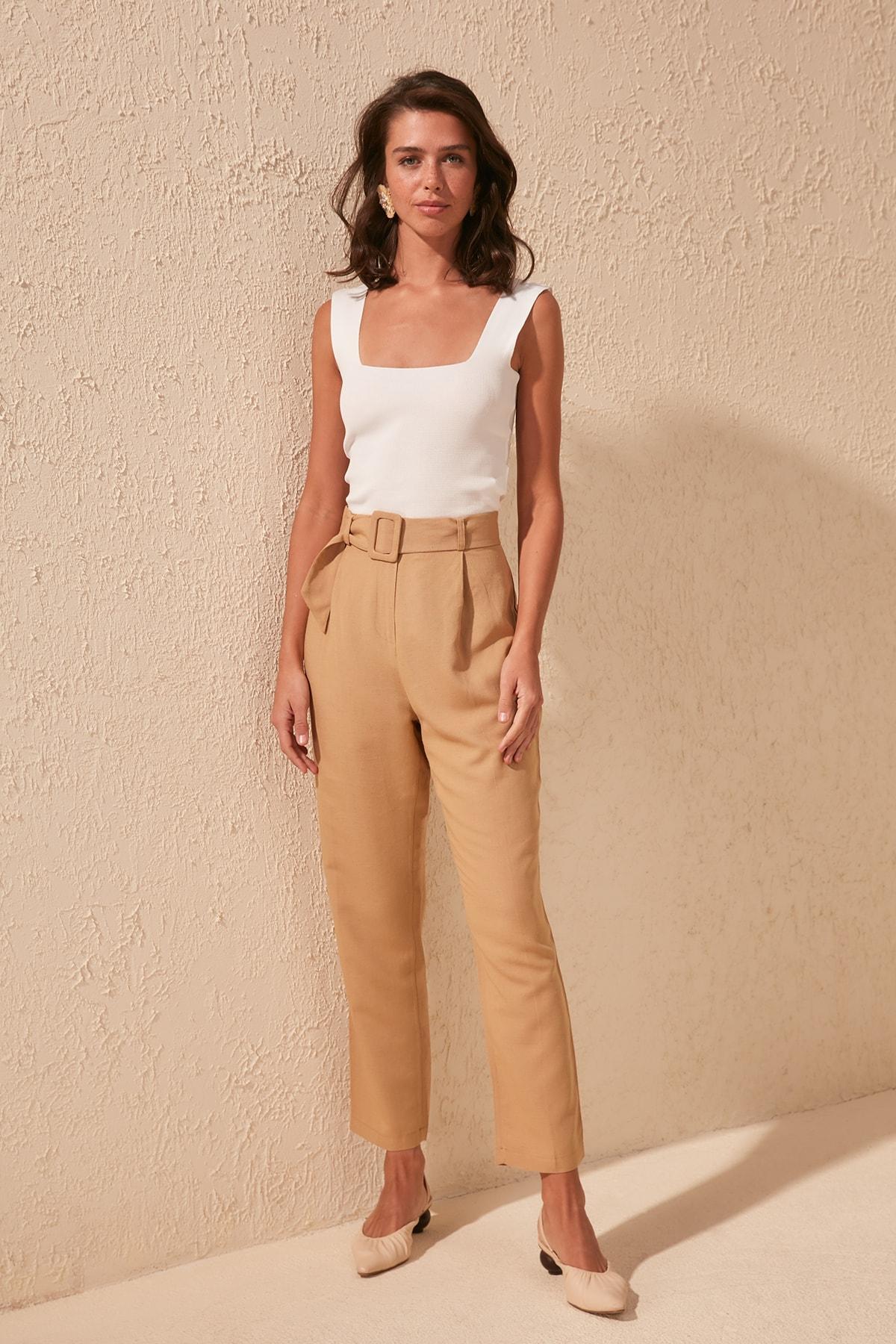 Trendyol Linen Pants TWOSS20PL0256