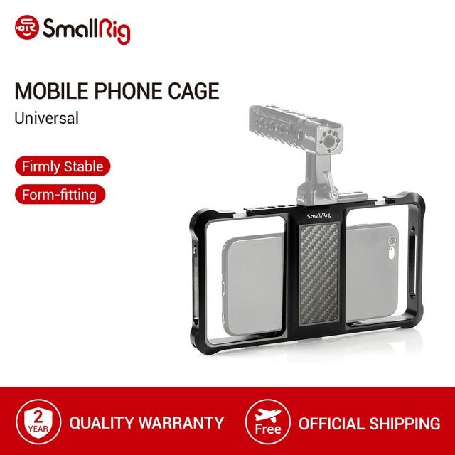 SmallRig Standard Universal Handy Käfig Vloggers Video Schießen Telefon Käfig Zubehör Mit Kalten Schuh Mount  2391