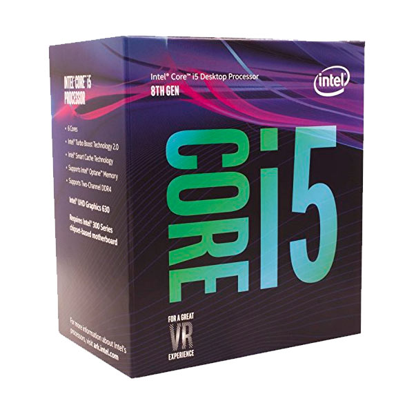 CPU Intel I5 8400 Socket 1151 4.0 GHz Coffe Lake 8ªgn 9 MB Cache IGPU 65wat 64 Bit