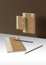 The Concept Notebook - 1 x (Big Size 96 Pages) + (Middle Size 96 Pages) + (Little Size 64 Pages) = (Triple Set - Caramel)
