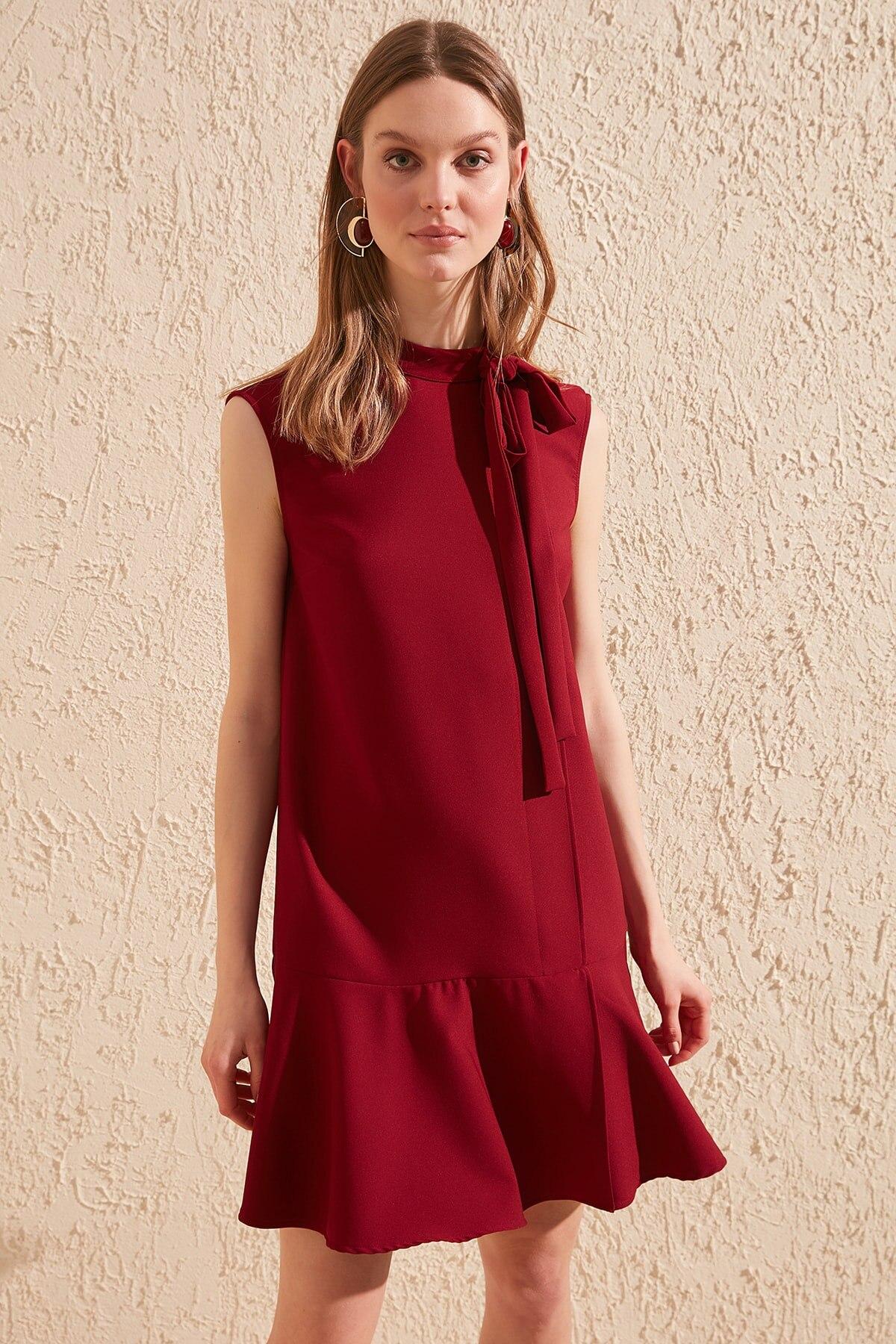 Trendyol Scarf Collar Dress TWOSS20EL0375