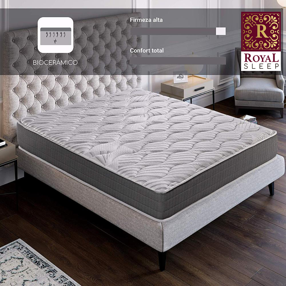Royal Sleep Ceramic Mattress De Espuma 23 CM Visco Carbono Regenerative Effect's Firmness And Adaptability Furniture Dorm Room Bed