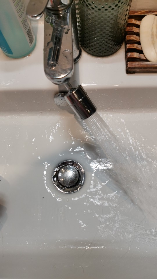 Universal Dual 720° Rotatable Extended Faucet Aerator Adapter photo review