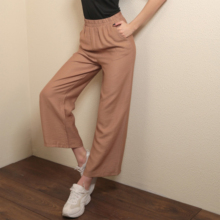 Leg-Pants Casual with Elastic Women Spring Summer Large Big Ultra-Size Daily Woman's