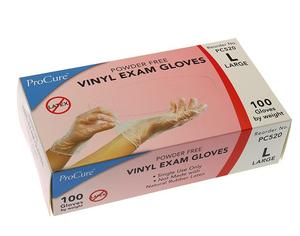 100PCS/BOX Disposable Power Free Vinyl Examination Hand Gloves Size L