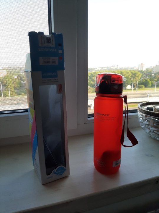 UZSPACE Sports Water Bottles Direct Drink or Straw My Bottle for Water 500ml Portable Leakproof Plastic Drinkware BPA Free-in Water Bottles from Home & Garden on AliExpress