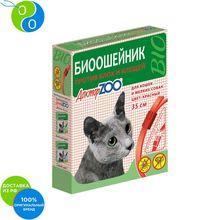Доктор Зоо Био Ошейник против блох и клещей для кошек и мелких собак Красный 35 см