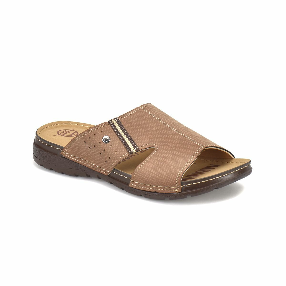 IN FLO-3 Sand Color Male Slippers Panama Club