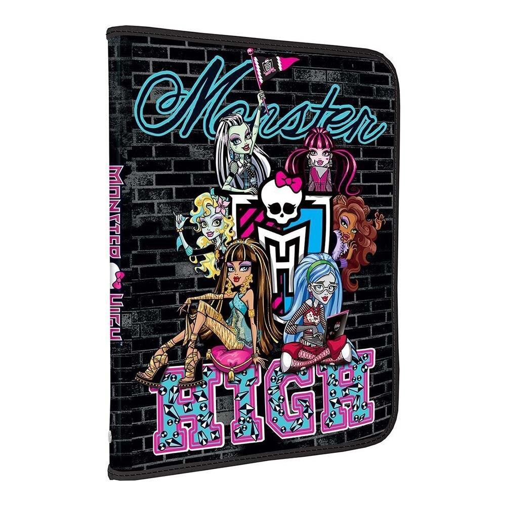 Папка Monster High для тетрадей на молнии