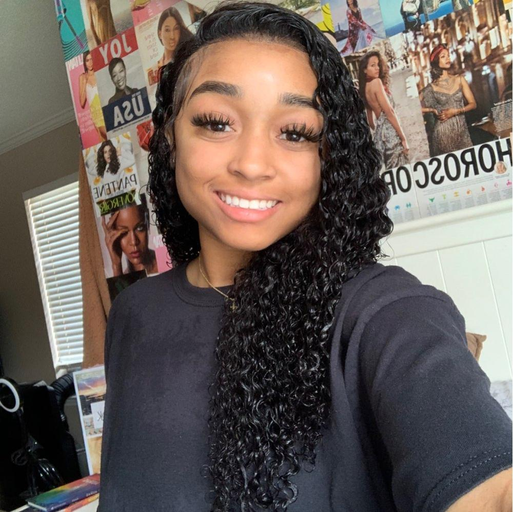 Cynosure 13x4/13x6 HD Transparent Lace Front Human Hair Wigs for Black Women Remy Brazilian Kinky Curly 4x4 Lace Closure Wig photo review
