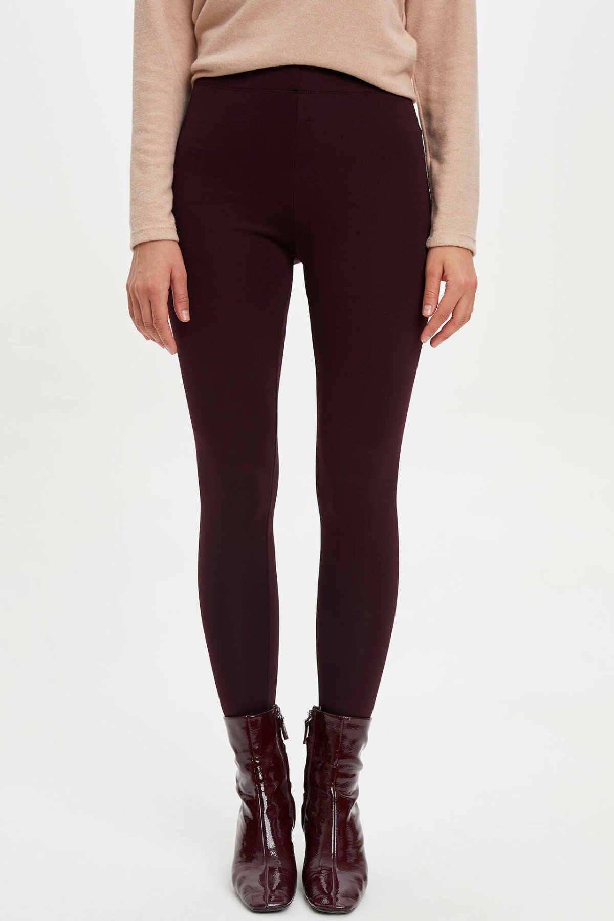 DeFacto di Modo Delle Donne A Vita Alta casual Scarni delle Donne Pantaloni Delle Signore Solido di Sport Leggings Per Il Tempo Libero Pantaloni-M4561AZ19WN