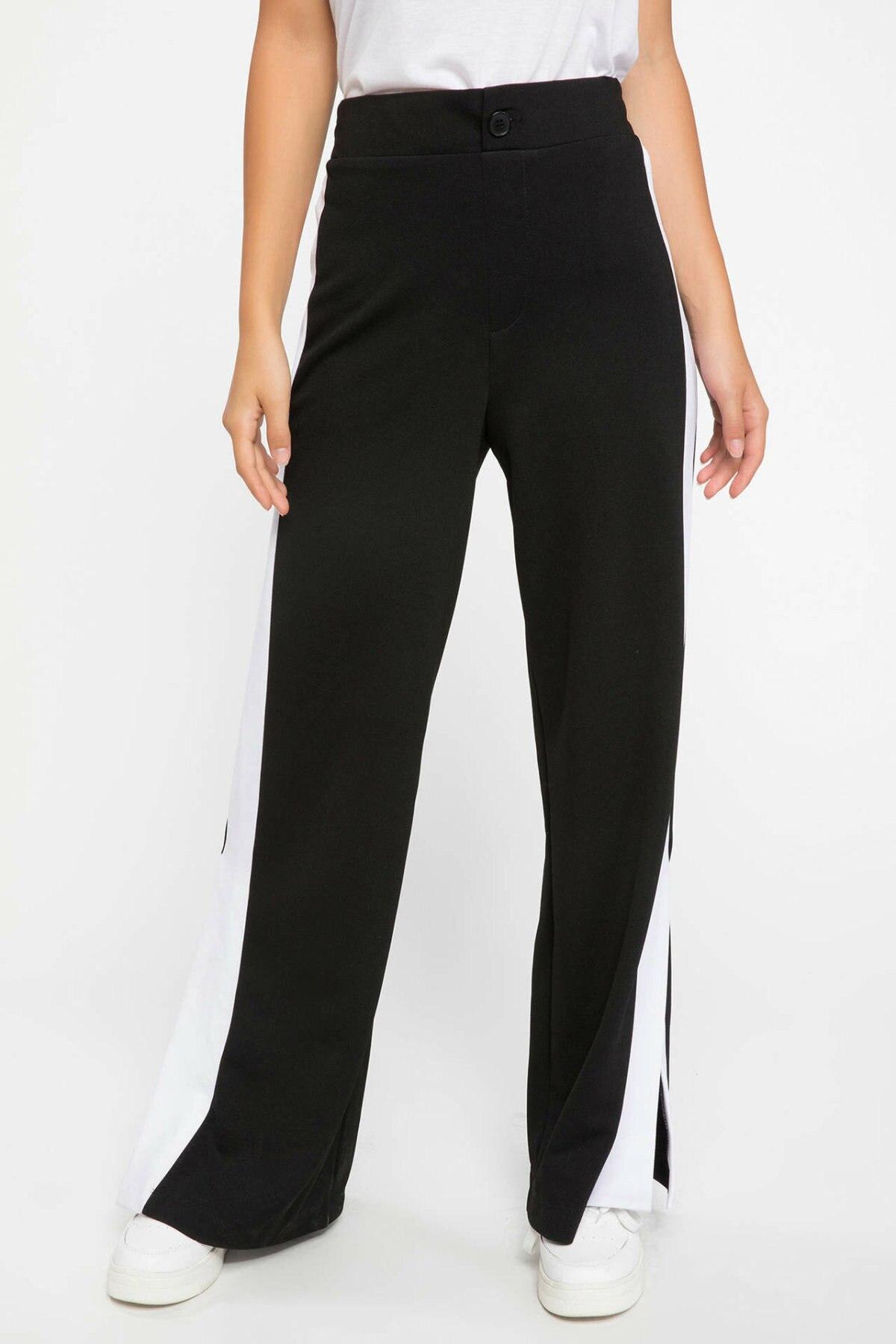 DeFacto Ladies Loose Sport Elastic Waist Casual Wide Leg Pants Women Autumn Leisure Women Long Trousers - J7759AZ18AU