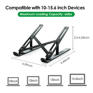 Image 4 - LINGCHEN Laptop Stand for MacBook Pro Notebook Stand Foldable Aluminium Alloy Tablet Stand Bracket Laptop Holder for Notebook
