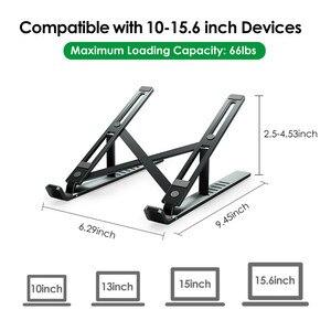 Image 4 - Lingchen portátil suporte para macbook pro notebook suporte dobrável liga de alumínio tablet suporte portátil para notebook