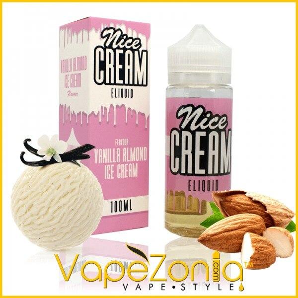 Nice Cream Eliquid VANILLA ALMOND  - 100 Ml