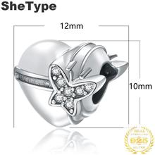 1.2x1.0cm Heart Shape 2.0g Cubic Zirconia Charm Silver 925 Sterling Silver Gift For Sister Charms Jewelry DIY 2019