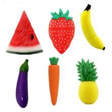 Clé USB créative en forme de Fruit de dessin animé, support à mémoire de 4GB 16GB 32GB 64GB, disque U, banane, fraise, cadeau