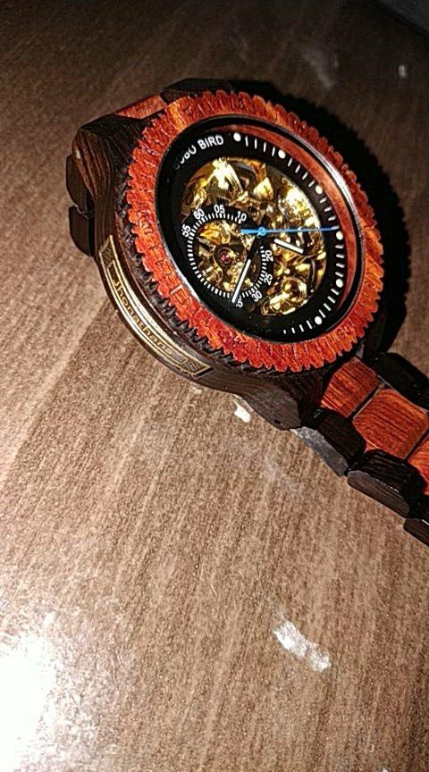 -- Relógio Madeira Masculino