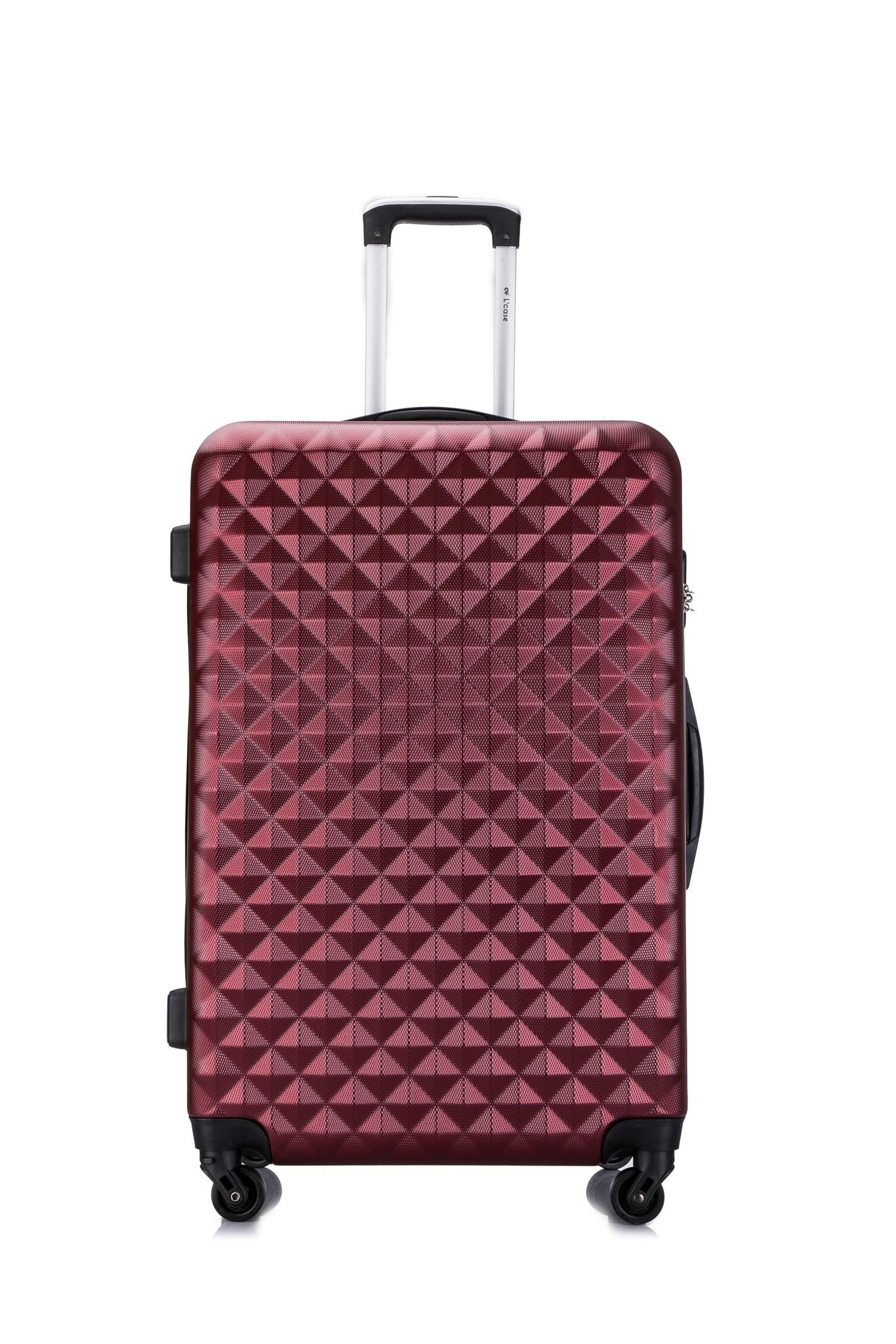 Lcase caso phatthaya mala bagagem vinho tinto cor viagem