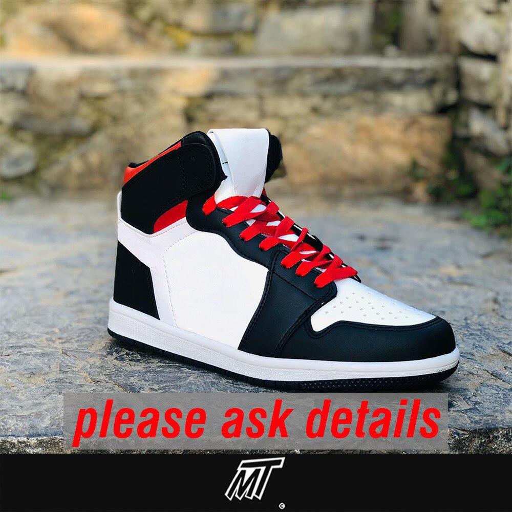 MT Retro Jordan 1 Air Skateboarding Sneaker Basketball Sneakers Classic Canvas Weightlifting Shoe Zapatillas кроссовки мужские