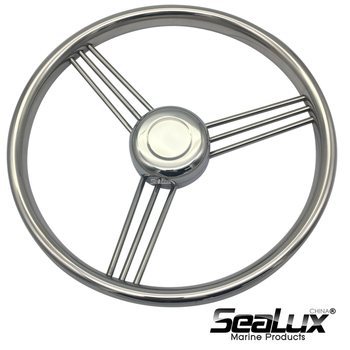 Sealux Marine Grade Stainless Steel 304 Steering Wheel for Boat Ship Yacht sealux removable flag pole marine grade 304 stainless steel flag staff for boat yacht camper rv