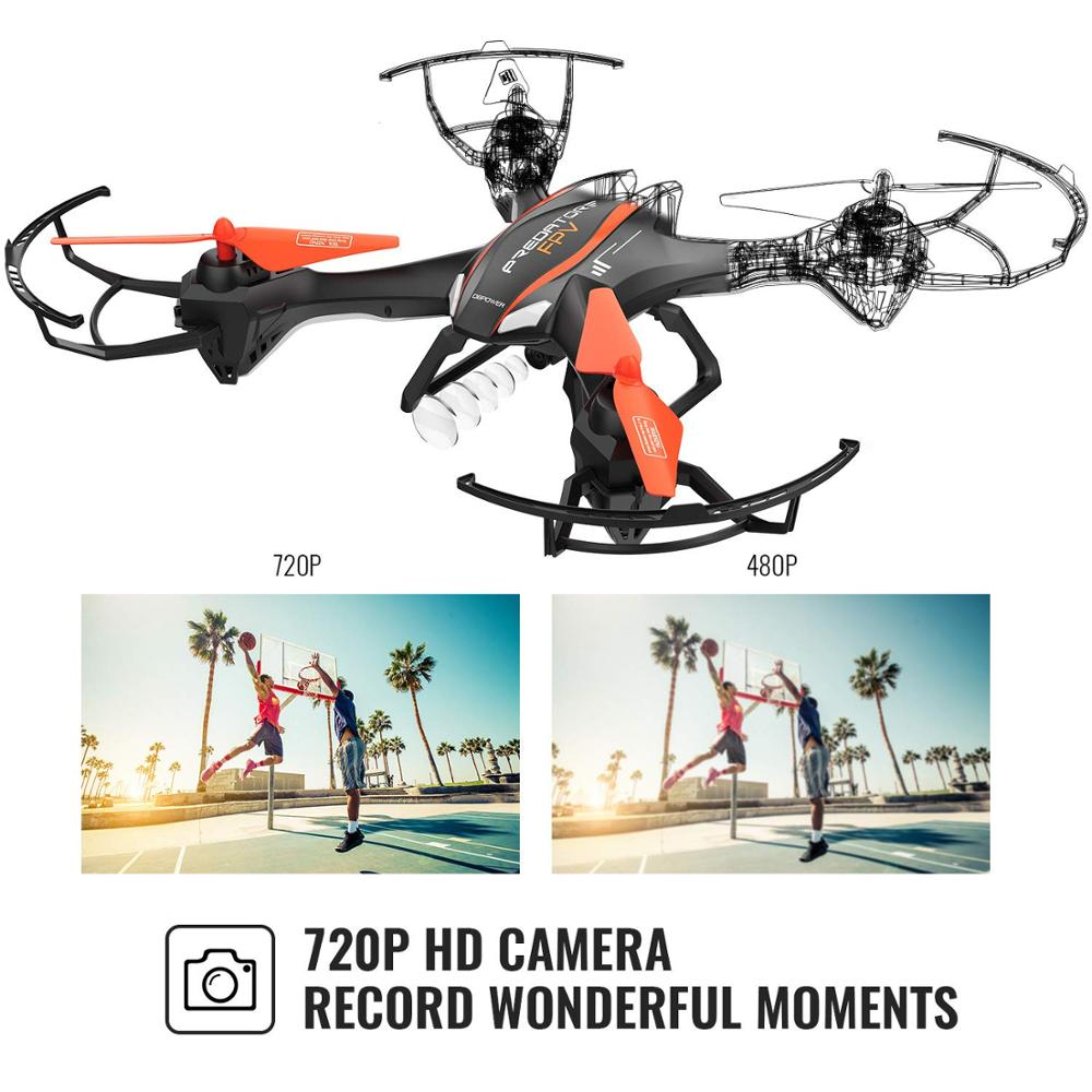 Image 3 - DBPOWER Predator U842 FPV Quadcopter Drone with HD Camera for Beginners and Kids, Big Size Black for Outdoor Use-in RC Airplanes from Toys & Hobbies