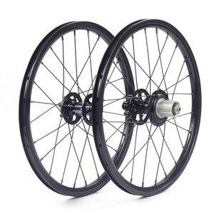 "Image 4 - Silverock alaşım jantlar 16 ""1 3/8"" 349 disk fren 24H Fnhon misafir katlanır bisiklet özel bisiklet tekerlek bisiklet parçaları"