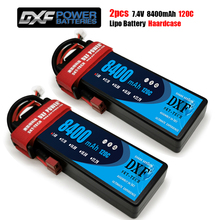 DXF batterie Lipo 2S, 7.4V 8400mAh 7000mAh 6500mAh, 50C 100C 60C 120C 240C, pour voiture et camion Rc Revo Slash