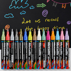 Drawing Marker Set 4/8/12/15/20 Colors Metallic Permanent Markers For DIY Cards Writing Signature Lettering  Wood Glass Fabric