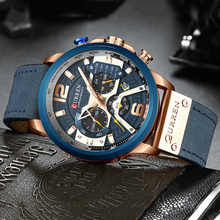 Men Watch Clock Chronograph Male Top-Brand Waterproof Luxury Curren Man